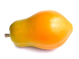 whole green yellow papaya fruit