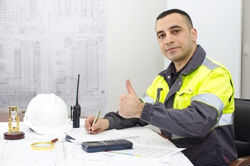 Civil Engineer At Construction Office