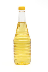 sunflower oil on the white background