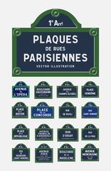 Plaques de rues Parisiennes