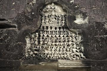 Фрески в храме Ангор Ват. Камбоджа.