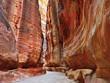 Leinwandbild Motiv Siq gorge in Petra, Jordan