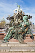 Leinwanddruck Bild - Neptunbrunnen auf dem Alexanderplatz in Berlin, Deutschland