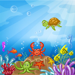 Illustration of the underwater world
