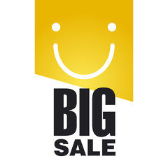 Big Sale logo orange background