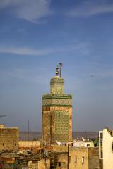 Bou Inania Madrasa minaret in Fes, Morocco