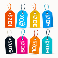 Paper Discount Labels - Tags with String