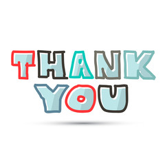 Thank You Title on White Background
