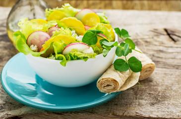 Fresh spring salad radish