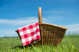 Picnic basket in nature