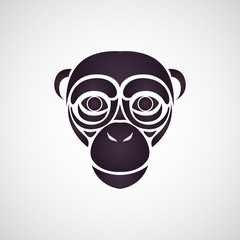 Chimpanzee logo vector