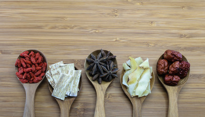 Essential chinese herbal ingredients for cooking chinese soup