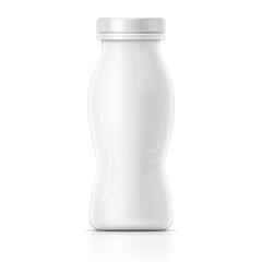 Small white yougurt bottle template.