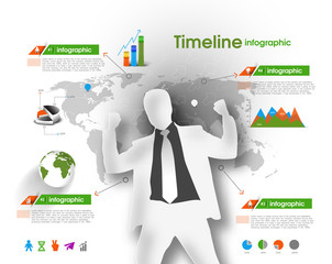 Design elements of business infographics. Set of 3D infographics
