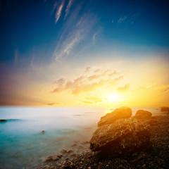 Evening ocean background