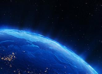 Earth north city lights