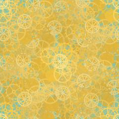 Seamless rusty cogwheel pattern