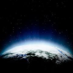 Africa lights at night