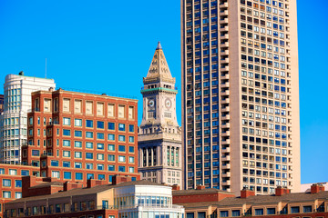 Boston Clock tower Custom House Massachusetts