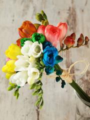 Beautiful bouquet  freesia flowers