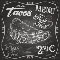 burritos, tacos vector logo design template.  fast food or menu