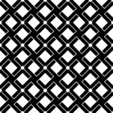 Black and white geometric seamless pattern line interlace style.