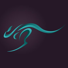 Kangaroo logo vector