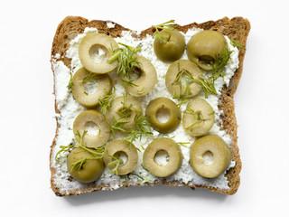 olives toast