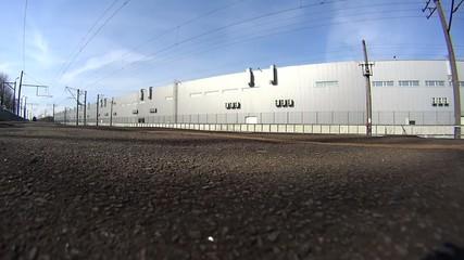 Freight train of Ukrzaliznitsa is coming