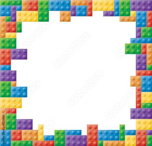 Leinwandbild Motiv Square Colored Block Picture Frame