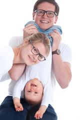 Glückliche Eltern verspielt im Foto Studio