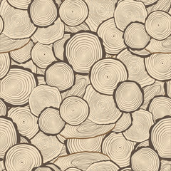 Tree rings saw cut tree trunk background