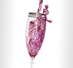 Bicchiere vino rosè