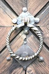 Ancient knocker on the door