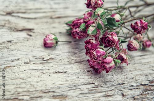 suszy-rozanych-kwiaty-obramiaja-na-starym-drewnianym-tle