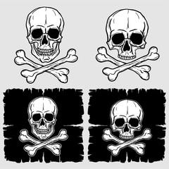 Set of Skull and Crossbones