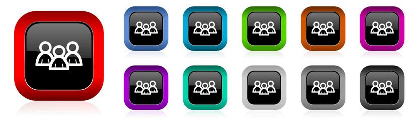 forum vector icon set