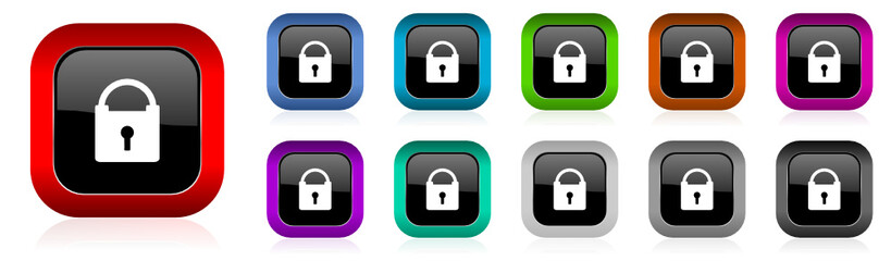 secure vector icon set
