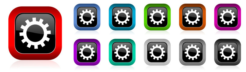 gear vector icon set