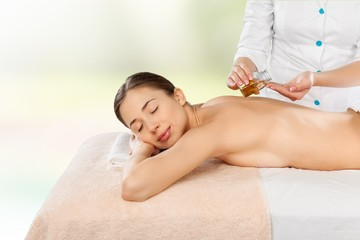 Skincare. Beauty, spa, resort and relaxation concept - beautiful