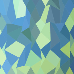 Lime Green Pastel Blue Abstract Low Polygon Background