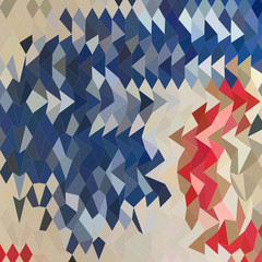 Spanish Blue Abstract Low Polygon Background