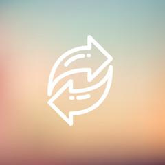 Arrow thin line icon