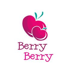 Vector bright b letter berry logo