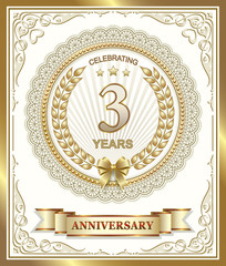 Anniversary card 3 years
