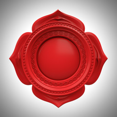 red Muladhara root base chakra base, abstract esoteric symbol