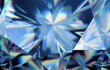 Leinwandbild Motiv 3d abstract blue crystal background, faceted glass wallpaper