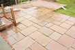 Building and laying a natural stone patio - 81517093