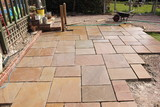 Fototapety Building and laying a natural stone patio