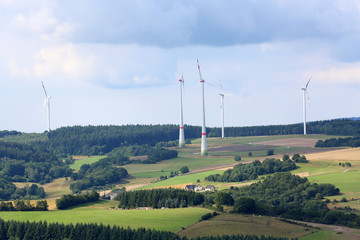 Windturbinen im Hunsrück